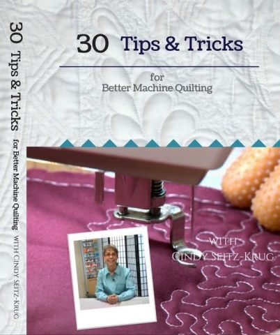 30 Tips and Tricks for Better Machine Quilting with Cindy Seitz-Krug