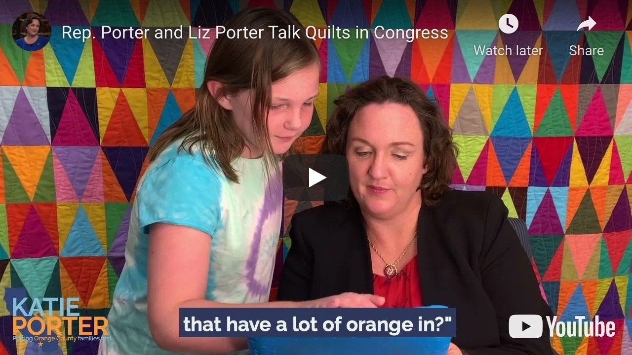 Kate Porter and Liz Porter Talk Quilts in Congress