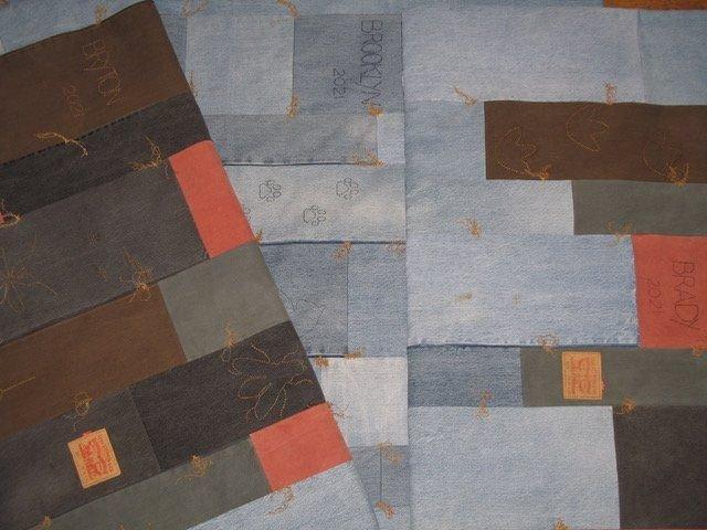Sonya Lee Barrington's Levi's Quilts