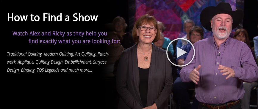 Watch the complete quilting video library