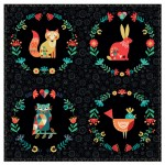 Folk Friends Cushion Kit - Black