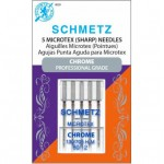 Microtex Chrome Sewing Needles By Schmetz Size 80/12