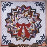 Holiday Charm Wreath Wall Quilt Kit - From the Lizzy Albright Collection