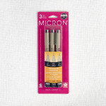 Pigma Micron Pen Set 3 Sizes - Black