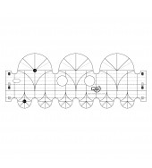Precision 3 & 1.5 Inch Arc Machine Quilting Ruler by Quilters Select