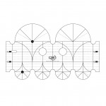 Precision 4 & 2 Inch Arc Machine Quilting Ruler by Quilters Select
