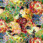108 Inch Quilt Back - Impressionist Floral